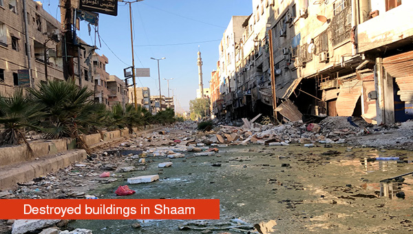 Destruction in Shaam