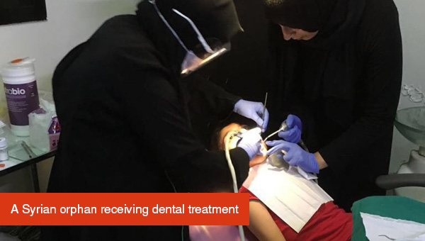 Orphan receiving dental treatment