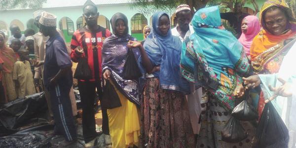 Qurbani distribution taking place in Kenya